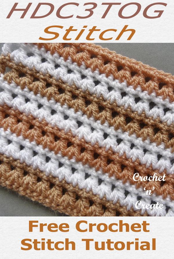 hdc3tog Crochet Stitch Tutorial Free Crochet Instructions