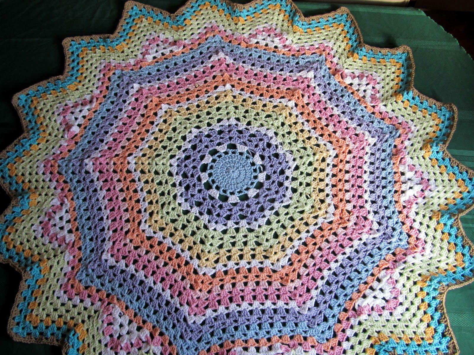 Round ripple afghan crochet pattern - TheFind | crochet | Pinterest