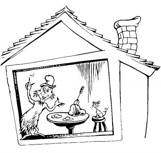 cat in the hat coloring sheet free coloring pages dr seuss