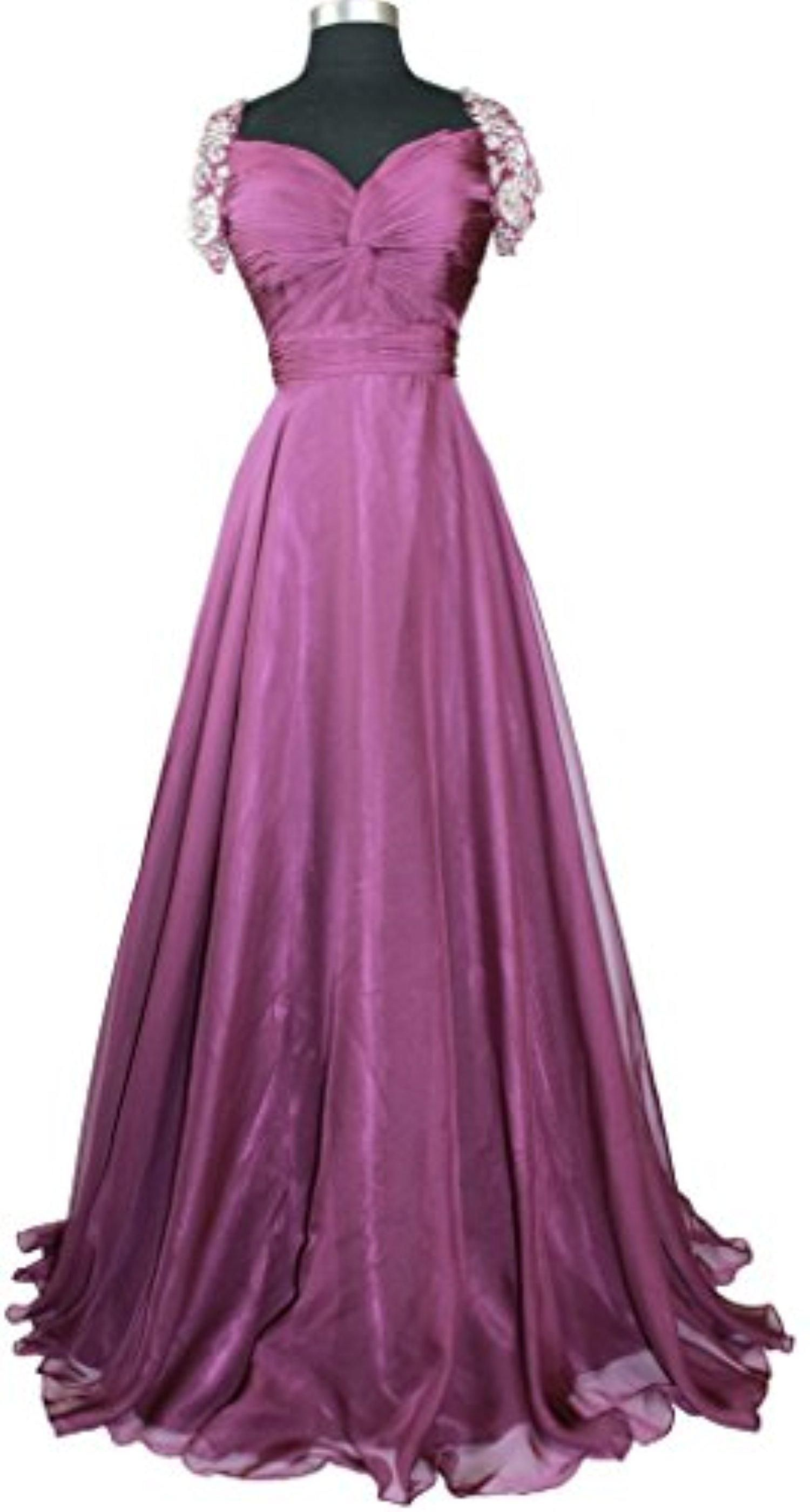 Meier Women's Beaded Short Sleeve Pleated Mother of Bride Evening Prom Dress M10 Eggplant 20 - Brought to you by Avarsha.com