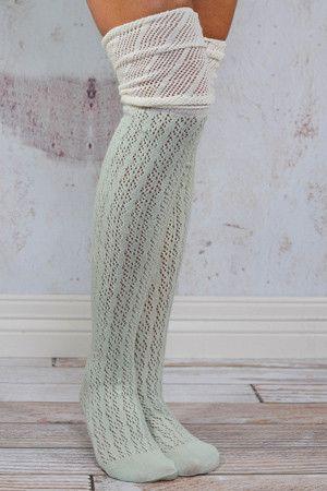 Women leg warmers winter leg socks girls Boot Socks knit cotton sock