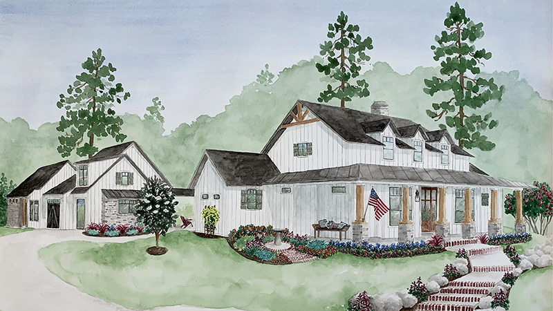 Legacy Ranch Southern Living House Plans Artistic Rendering Kurk Homes In 2020 Southern Living House Plans Family House Plans Dream House Plans