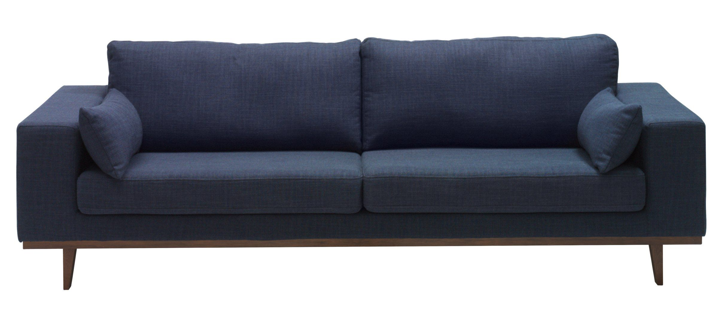3er-Sofa LORITZ, Stoff, Blau, B:238 H:81 T:90 cm - Sofas - Micasa ...