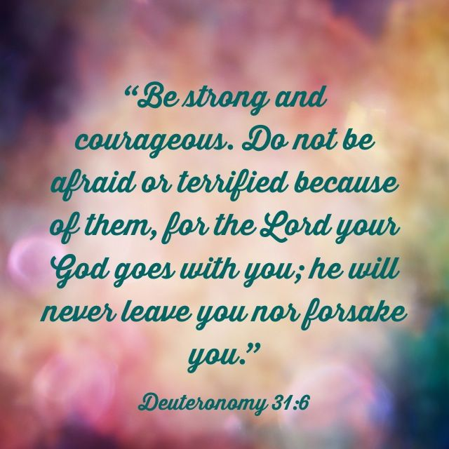 Deuteronomy 31:6 Verse of the Day | Deuteronomy, Deuteronomy 31 6 ...