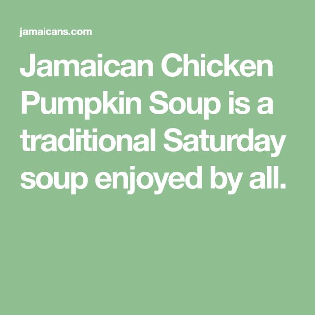 jamaican chicken pumpkin soup  chicken pumpkin jamaican