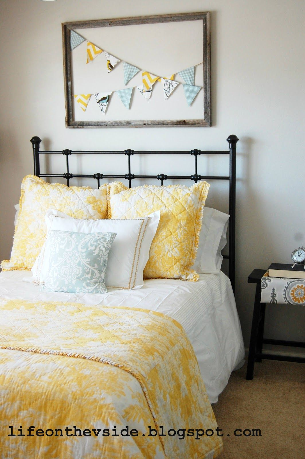 Bedroom colors yellow - Sherwin Williams Agreeable Gray Bedroom The Bedding Would Look Good In The Guest Room Grey Yellow
