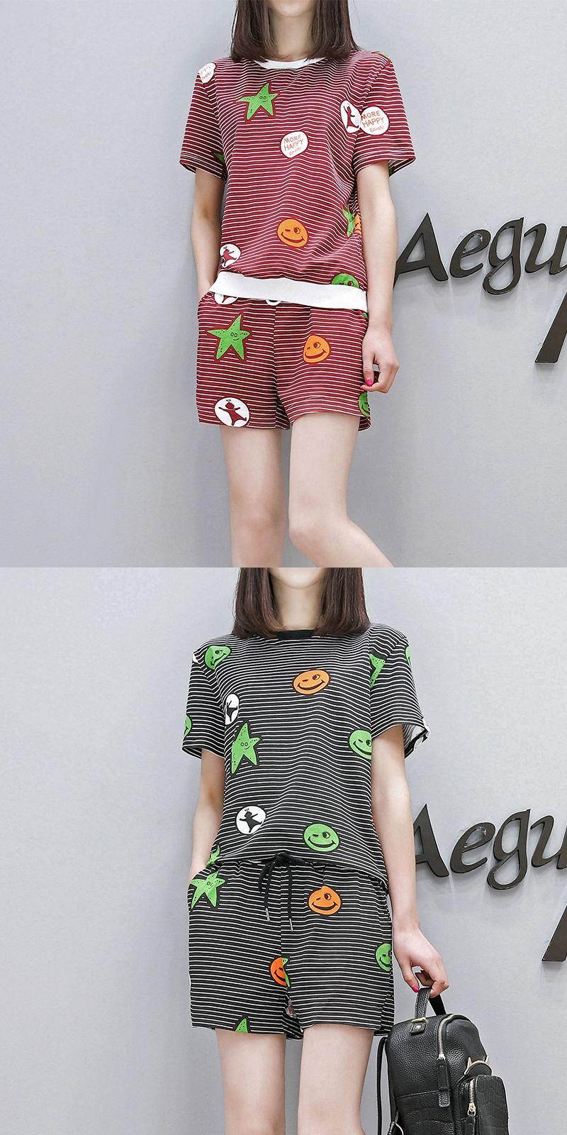 5a37e1688a3 Plus Size Women European Fashion Suits Shorts Set Clothing 2017 Summer  Loose Two-Piece Short