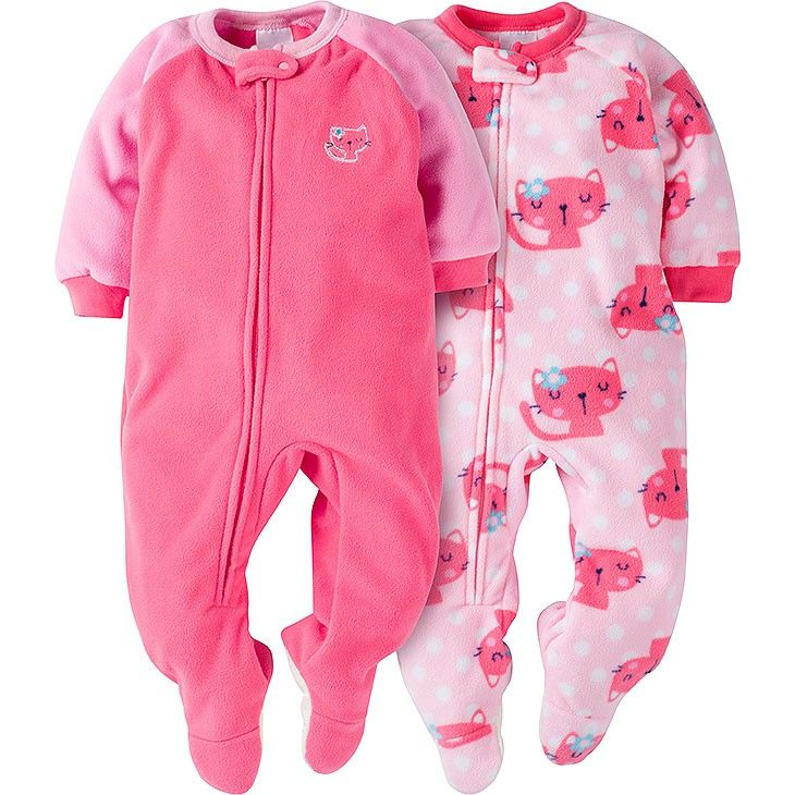27883ffa1 Baby girl will be ready to sleep soundly with this 2-pack of girls ...