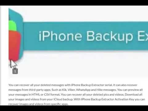 iPhone Backup Extractor 7 6 1 Activation Key Free Party