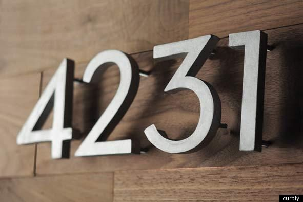 House Number Diy Make Your Own Modern Address Numbers House