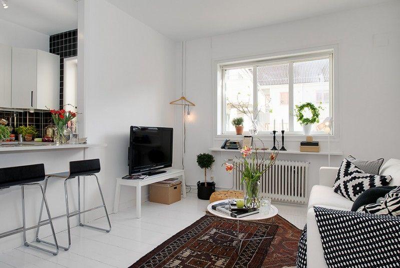 L\'arredamento di un piccolo bilocale a Goteborg, realizzato dallo ...