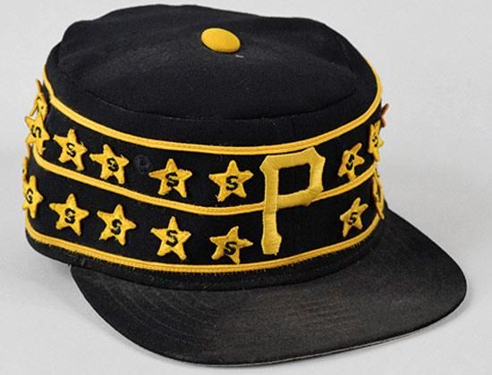 Kent Tekulve s Pittsburgh Pirates pillbox cap. The crown of the