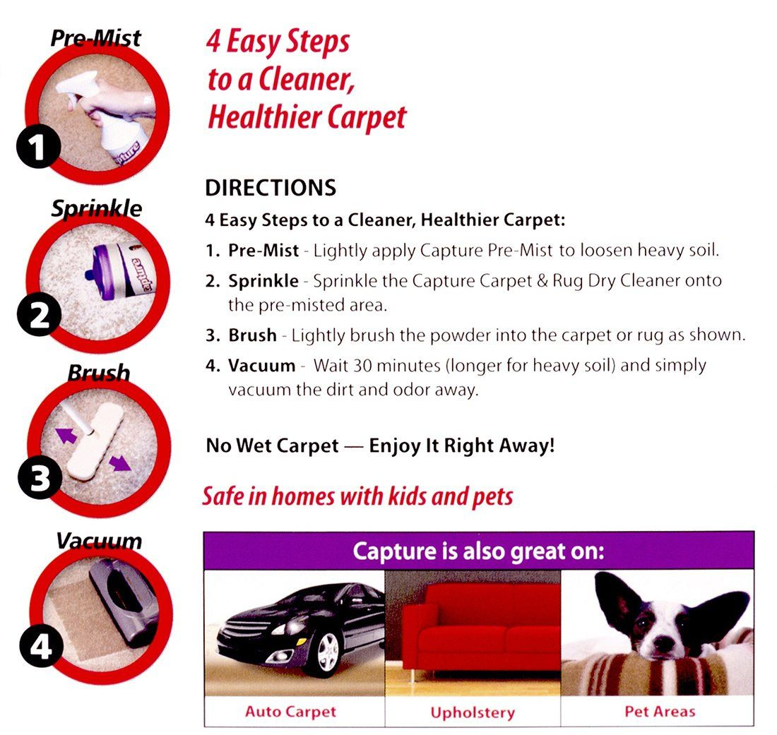 Capture Carpet Dry Cleaner Powder 4 Pound Resolve Allergens Stain Smell Moisture From Rug Furniture Clothes An Rugs On Carpet Dry Cleaners Dry Carpet Cleaning