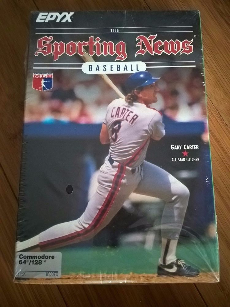 Sporting News Baseball For Commodore 64/128, NEW FACTORY