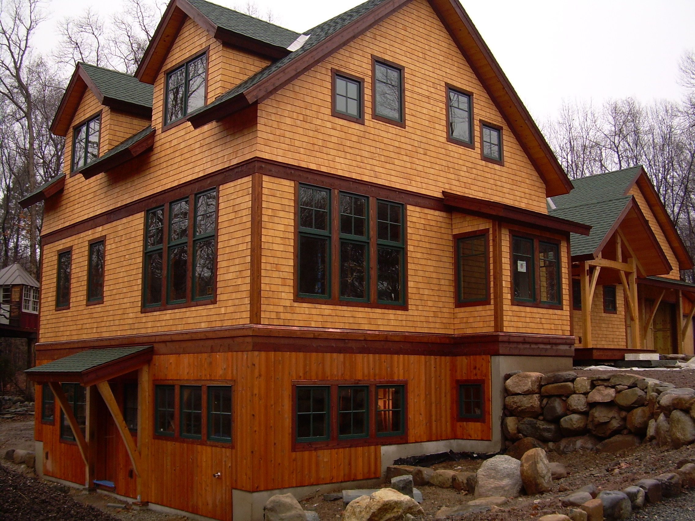 What color trim on a natural cedar house google search for Holistic house