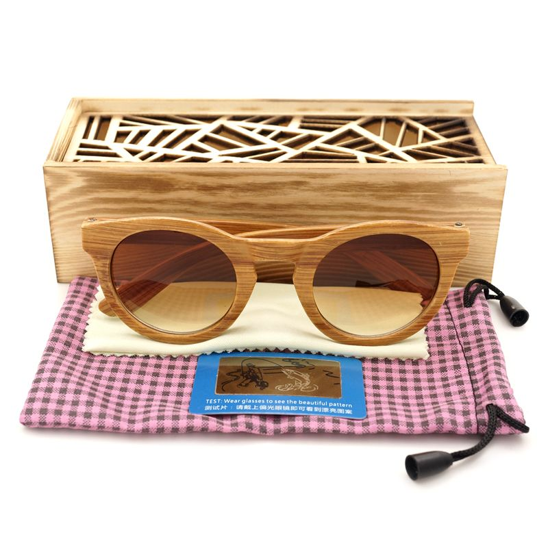 7828fe0ad98 ... Eyewear with Wood box. BOBO BIRD Women Sunglasses Retro Vintage  Imitation Bamboo Plastic Frame Sun Glasses for Women and Men Casual 2017  Gafas