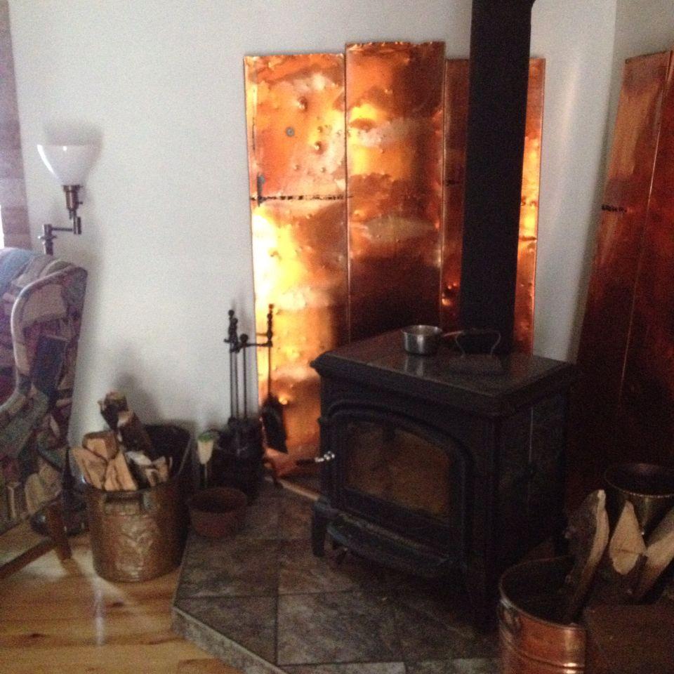 Copper Heat Shield Wood Stove Heat Shield Wood Stove Copper Wood