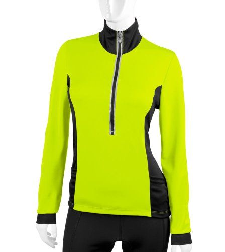Aero Tech Designs Womens Chilly Girl Long Sleeve Jersey Made in the USA  Medium Safety Yellow 30e7070df