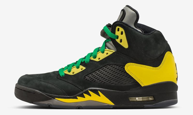 the latest 18385 3b415 Air Jordan 5 Duckman - Oregon Ducks Air Jordans   Sole Collector