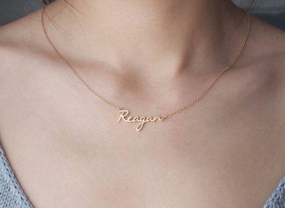 Namensketten - Custom Name Halskette - personalisierte Namen Schm ...