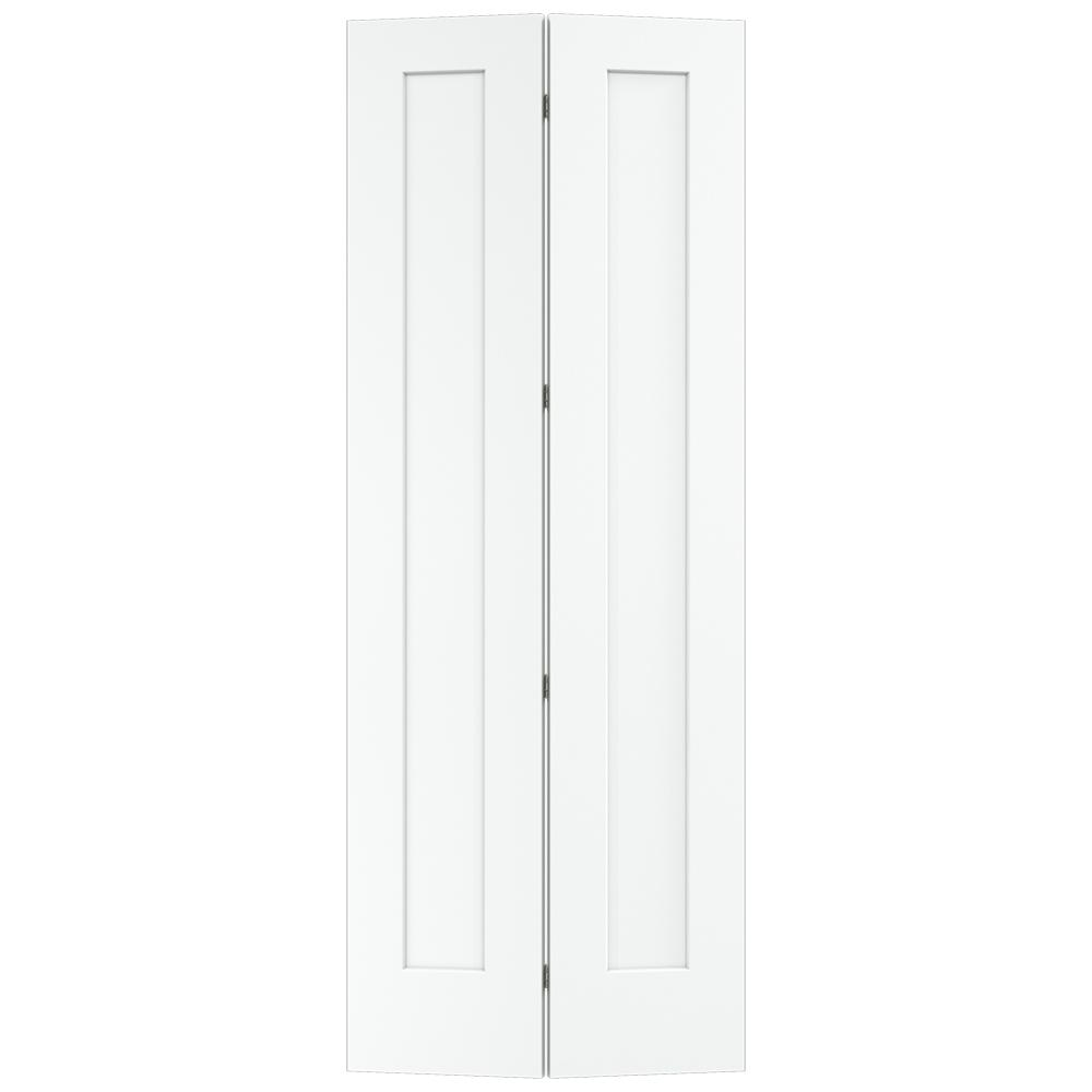 jeld wen 36 in x 96 in white painted smooth on 36 In X 96 In Composite White Interior Bi Fold Door id=82934