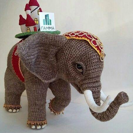 Elefante de crochê - Amigurumi - YouTube | 453x453