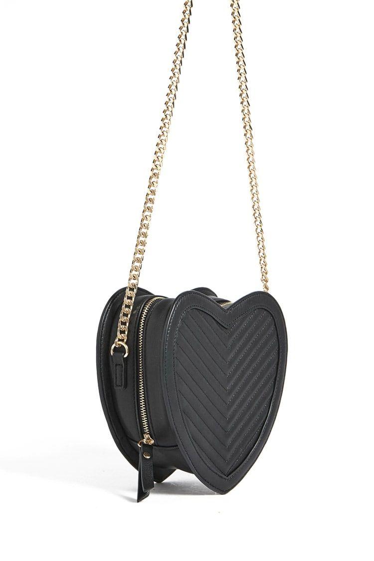 Forever 21 Faux Leather Heart Crossbody Bag g9eFjR0tI