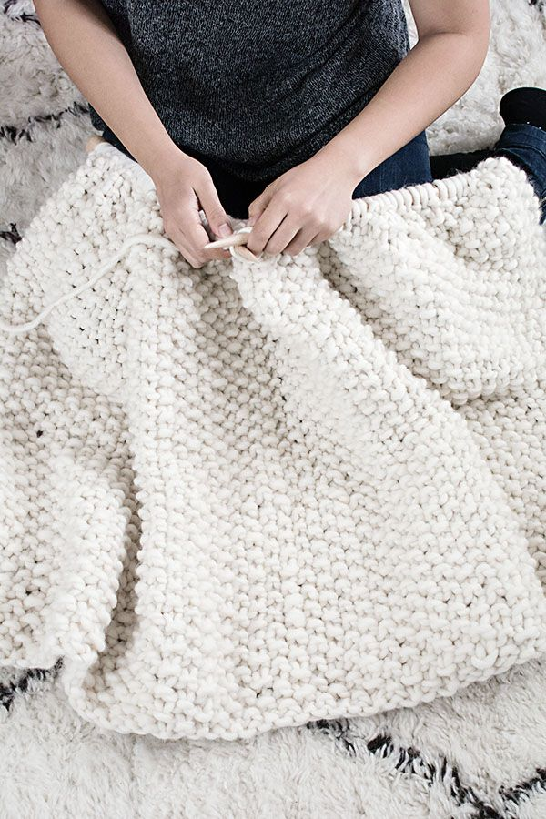 DIY Wool Blanket with We Are Knitters | Knitting | Pinterest | Lana ...