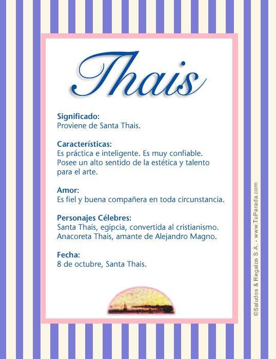 Thais Significado Del Nombre Thais Nombres Nombres Significados De Los Nombres Nombres De Bebes