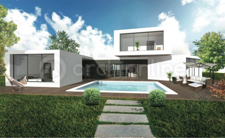 Maison Solaire - Plan de maison Moderne réalisé par les architectes - facade de maison moderne