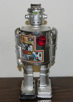 Vintage Durham Industries Robot 2500 Silver Cyclops Figure ...