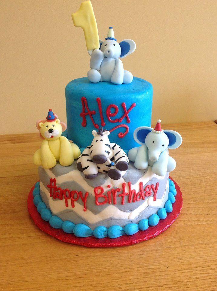 Elephant Zebra Lion Cake Saras Sweets Bakery Grand Rapids Mi