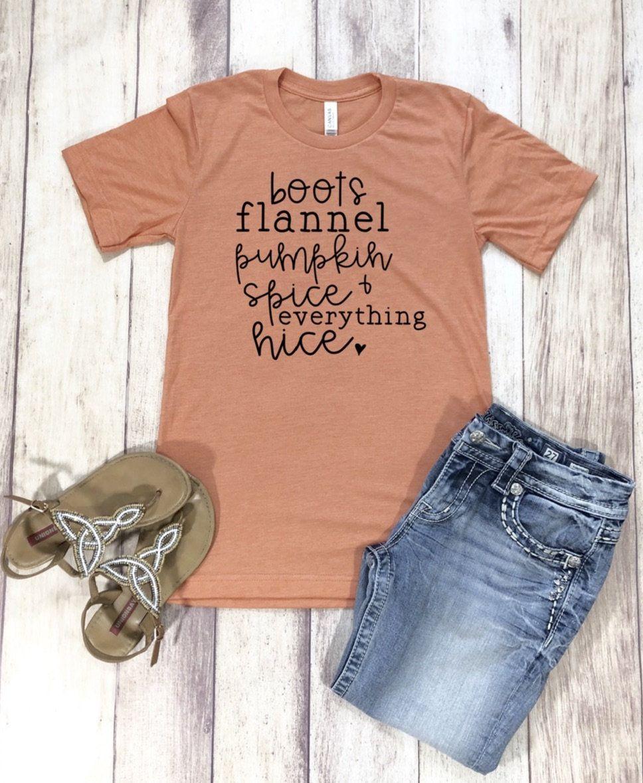 Flannel t shirts  Fall Shirt Pumpkin Spice Shirt Womens Fall Shirt Pumpkin Spice