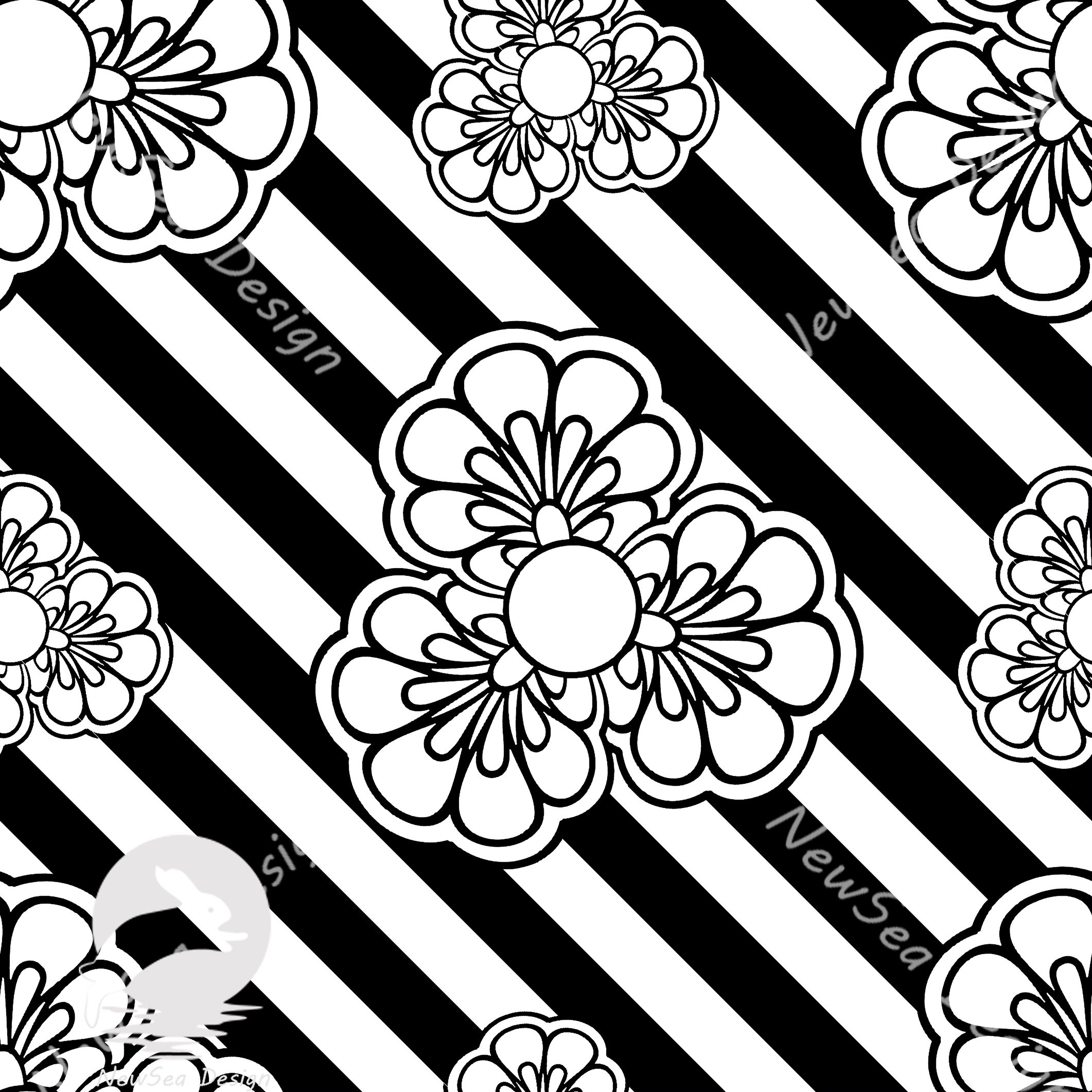 Black and white pattern  patternbank.com/NewSeaDesign  #illustrationart #illustrationbest #pattern #patterndesign #patterndesigners #repeatpattern #illustration #surfacepattern #patternprint #patternobserver #patternbank #patterncurator #patternoftheday #patterndesigners #textil