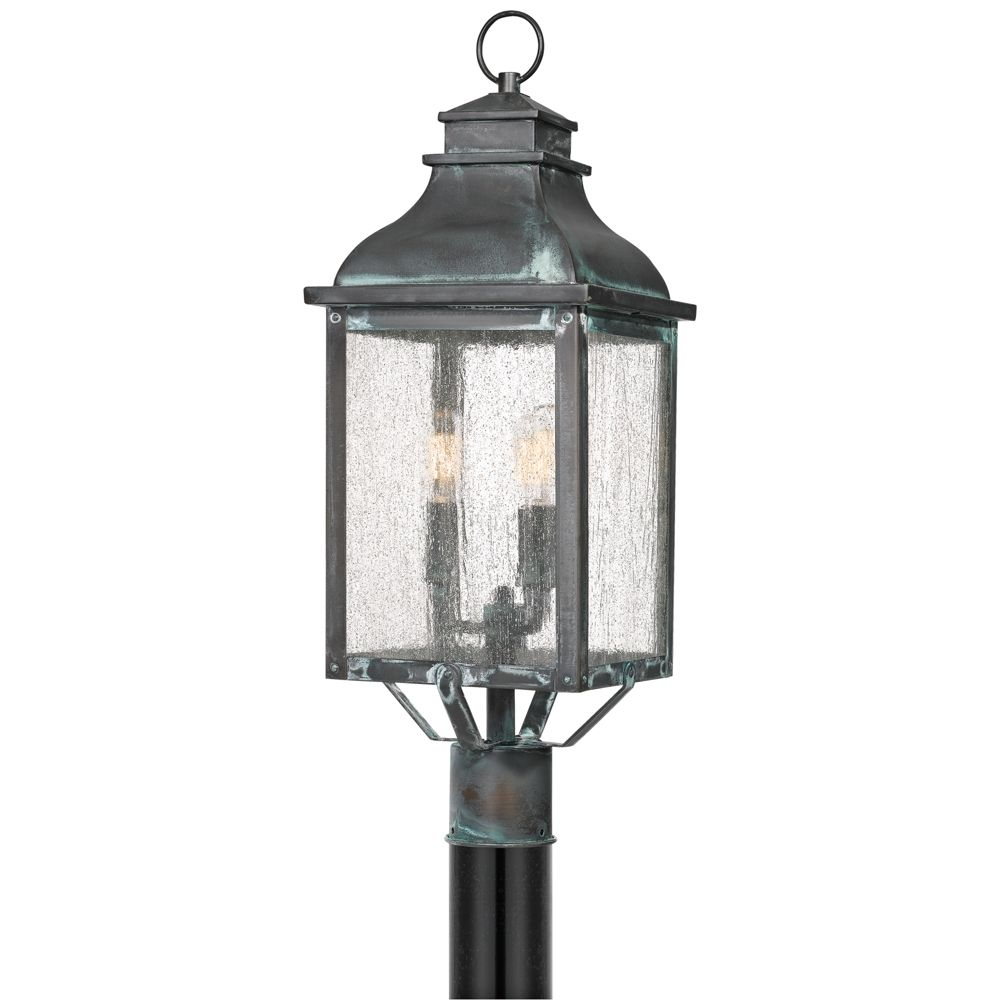 Quoizel Branson 25 1 4 High Aged Verde Outdoor Post Light Style