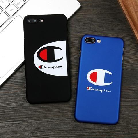 eb7da83668 Champion iPhone8 ケース ブランド チャンピオン iPhoneX ハードカバー アイフォン7プラス/6プラス シンプル スムース  iphone7/6s/6