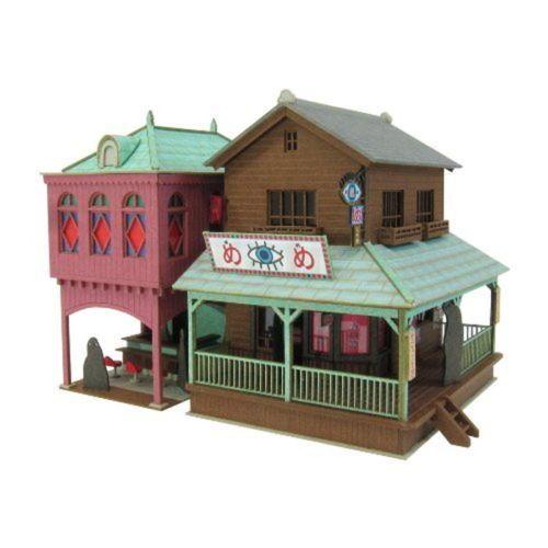 1-150-Spirited-Away-wonder-of-town-2-MK07-05-Paper-Craft-Japan-Toy-Hobby