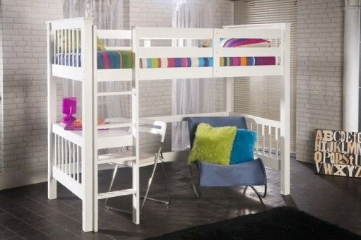 Limelight Pavo Wooden White Study Bunk