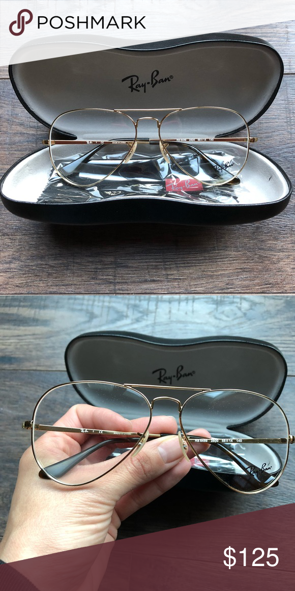 5a6184fb04 RAY BAN RX Aviators - Gold Frame Beautiful Ray Ban RX Aviators. RB 6489.  Unfortunately