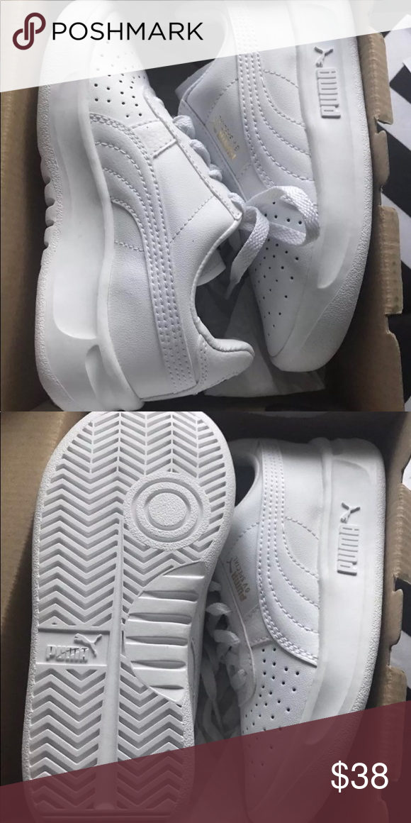 d90330ac Kids all white Pumas Brand new size 12 Puma Shoes Sneakers | My Posh ...