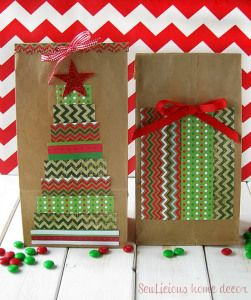 Easy DIY Decorated Christmas Bags