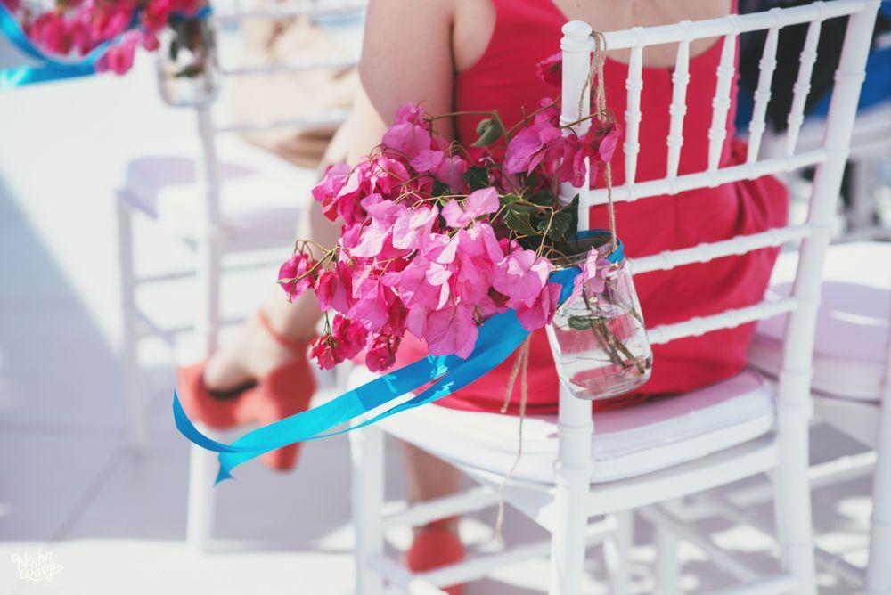 Santorini Wedding Aisle Inspiration-mason jars  See more suggestions here: http://tietheknotsantorini.com/santorini-wedding-aisle-inspiratio