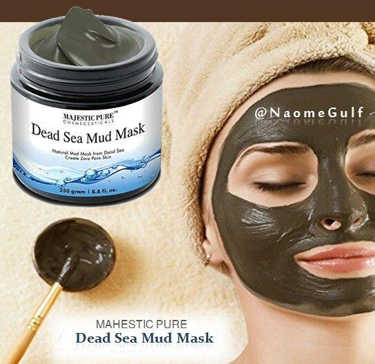 ماسك طين البحر الميت طين البحر الميت الاسود غني بالمعادن كالكالسيوم والبوتاسيم والمغنيسيم يطهر ويرطب ويزيل ا Healthy Skin Care Healthy Skin Skin Care