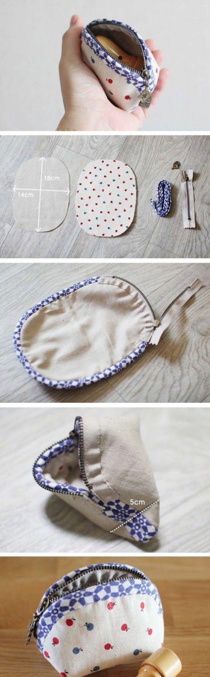 Geldbeutel nähen - 30 coole DIY Ideen für einen Geldbeutel #håndarbejde
