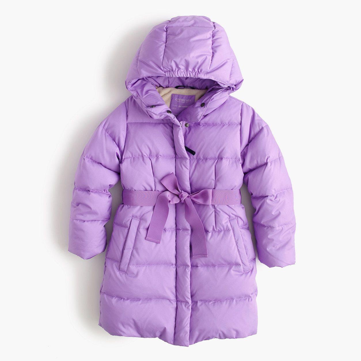 aea26a9b2b216 crewcuts Girls Long Powder Puffer (Size 3 Kid) Down Puffer Coat
