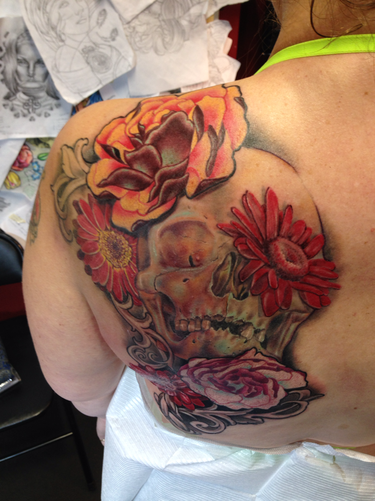 An Example Of Work Done By Tattoo Artist Anastasia Powell At Eye Of The Lotus In Edmonton Photo By Jason Franson Edmonton Journal Tattoo Artists Lion Sculpture Ink
