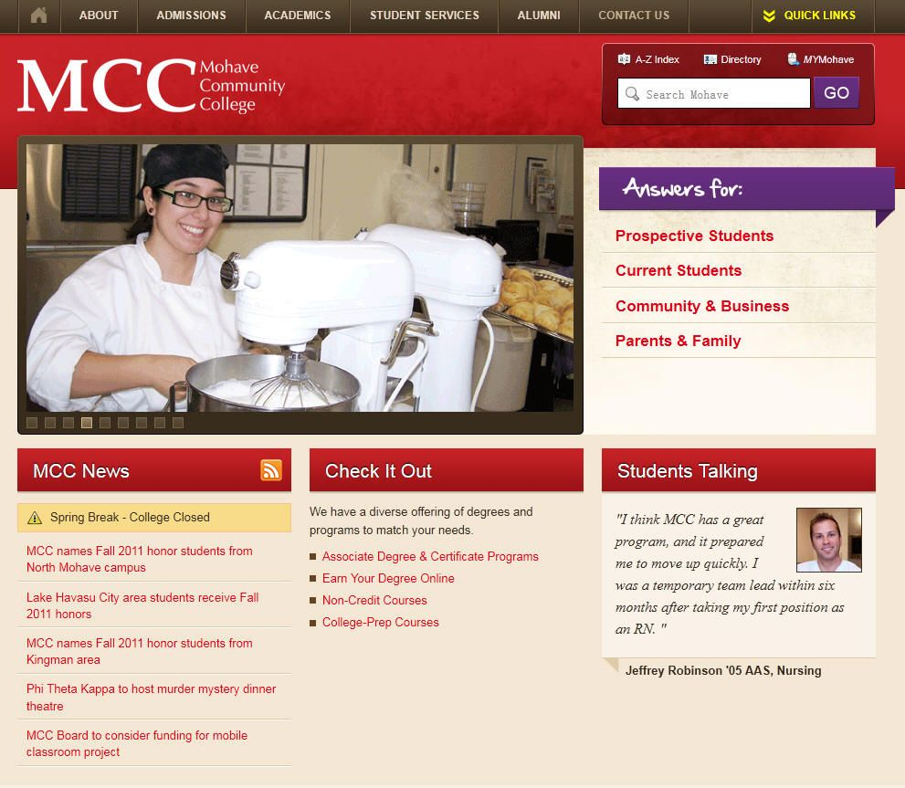Mohave Community College (also known as MCC) is a twoyear