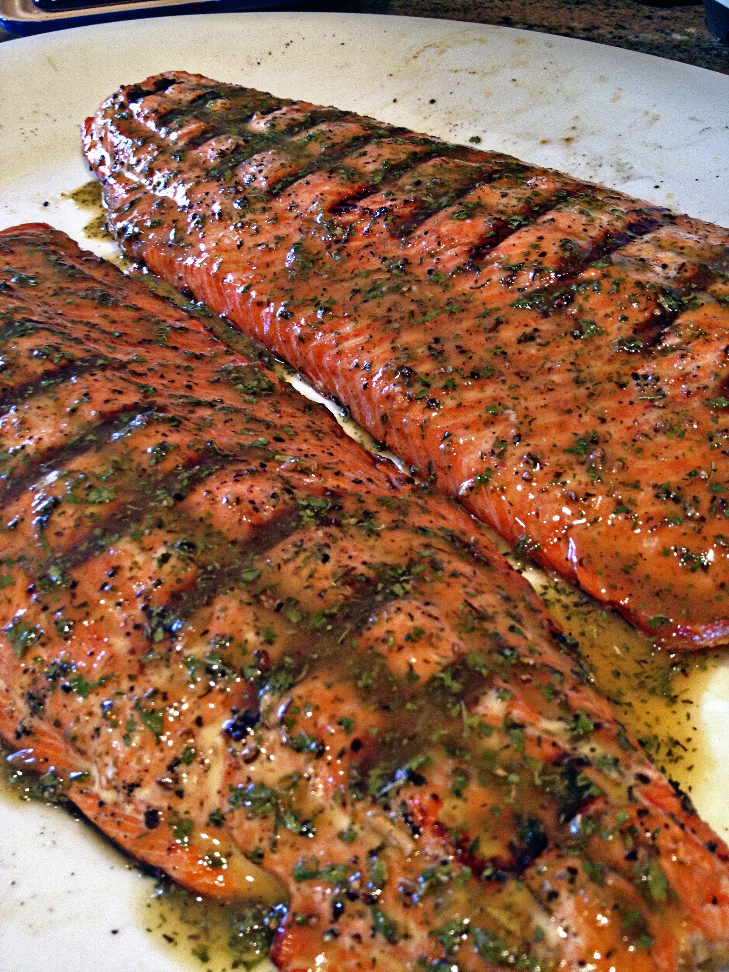 Grilled Amp Glazed Wild Copper River Sockeye Salmon Grilled Salmon Recipes Sockeye Salmon