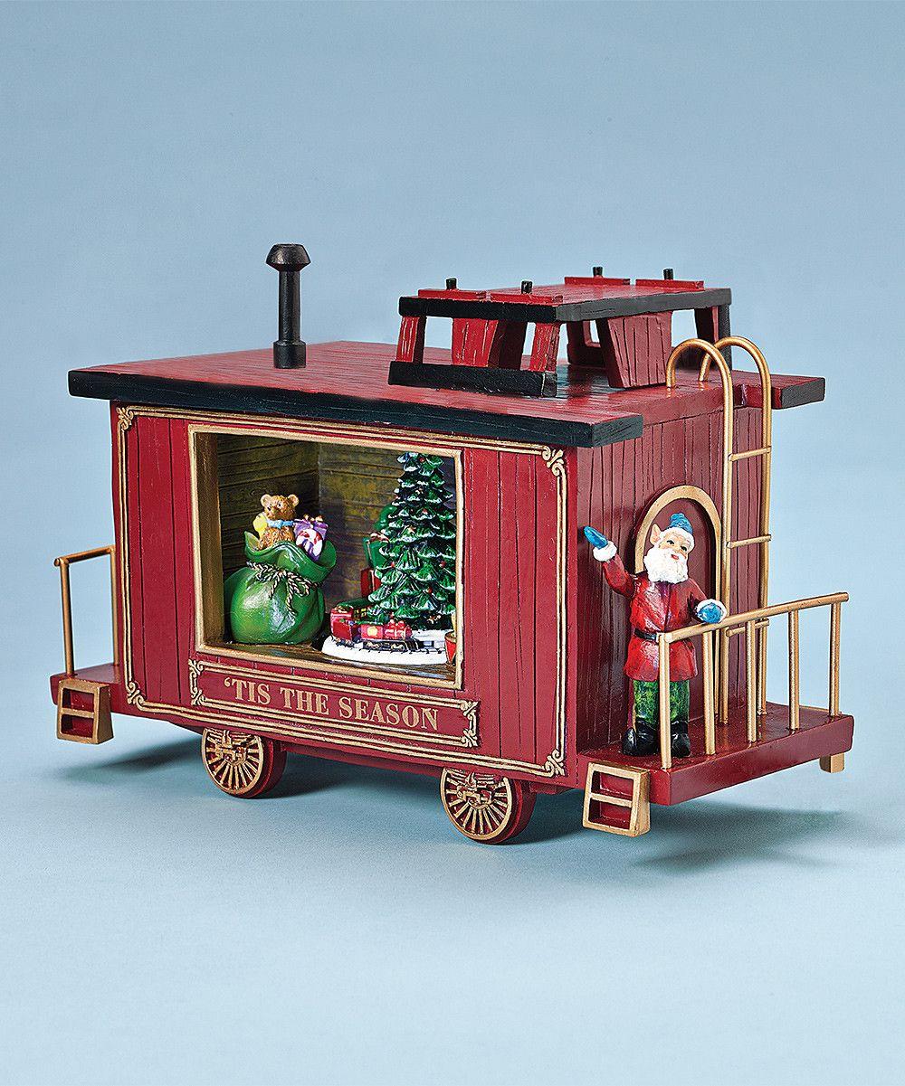 Caboose Christmas Music Box