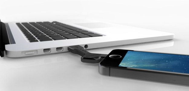 A key-sized lightning to USB cable for charging anywhere and everywhere.